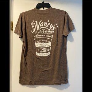Nancy's cultured dairy & soy tee medium